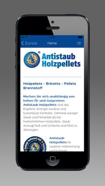 AS. Antistaub Holzpellets App!